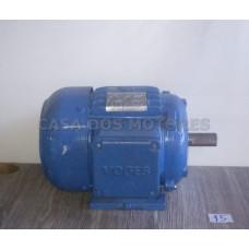 Casa dos Motores 1/2 cv 8 polos (Ref 15) Motor Elétrico Trifásico 220/380 Mod 90 Recondicionado c.m