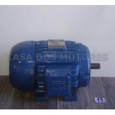 Casa dos Motores 3/4 cv 6 polos (Ref 19) Motor Elétrico Trifásico 220/380 Mod 80 Recondicionado c.m
